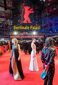 In front of the Berlinale Palast