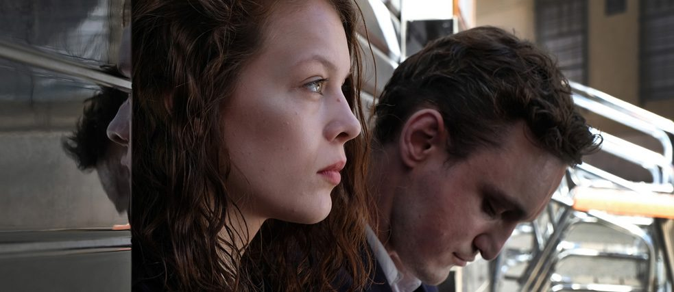 "Paula Beer and Franz Rogowski in Christian Petzold's ""Transit""."