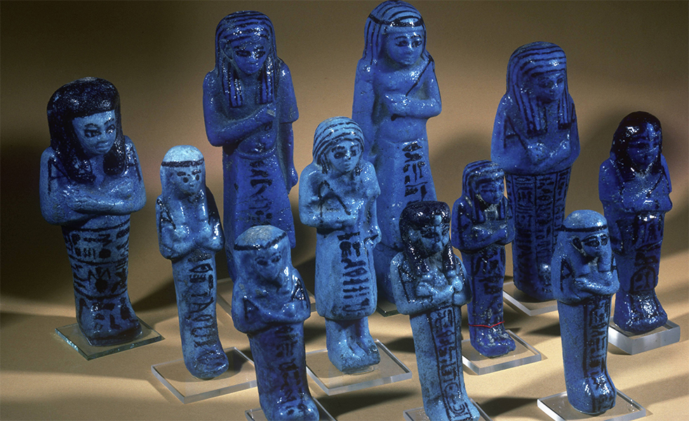 Providing answers in the ancient world: Egyptian shabtis, minions charged with working for the dead in the afterlife.