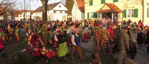 Fasching festival parade in Neuravensburg