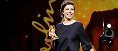 "An audacious winner: Adina Pintilie won the Golden Bear for Best Film for ""Touch Me Not"""