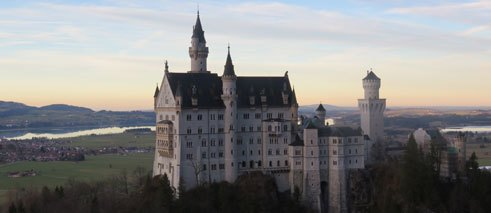 Sunset at Schloss Neuschwanstein
