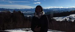 View from atop the Alps in Bregenz, Austria