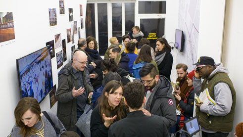 "Exhibition opening ""We Indict! Unraveling Structural Racism in Germany""."