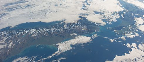 New Zealand as seen from the International Space Station in 2014