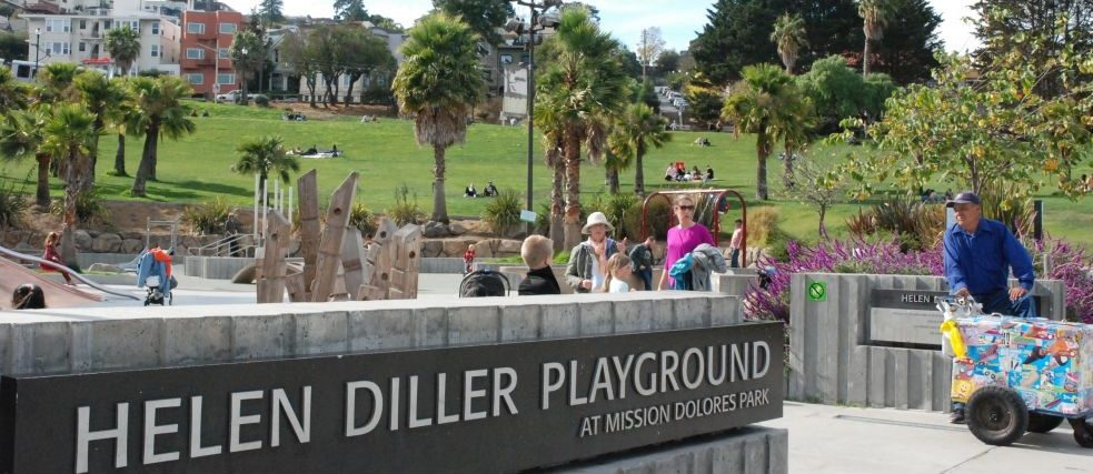 Helen Diller Playground at the heart of the park was only opened five years ago and is hugely popular with the park's younger visitors.