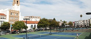 Anyone for tennis? Mission Dolores Park boasts no fewer than six courts.