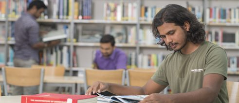 Students in Library GI Chennai