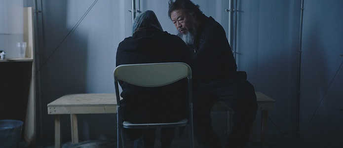 Ai Weiwei having a conversation