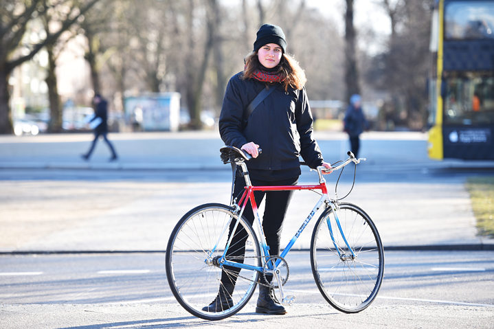 """People often ask me whether these narrow racing tyres aren't completely impractical for Berlin streets. After all, they're often paved with broken glass. Impractical, yes, but also unbelievably good – I don't mind dealing with a few more flat tyres in return."""
