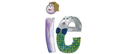 "The picture book entitled ""ich & er"" helps children to internalise the ""ie"" combination."