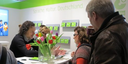 The Goethe-Institut is among the many exhibitors with stands at Europe's largest education trade fair in Stuttgart.
