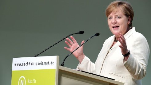 The award ceremony was followed by a speech by Federal Chancellor Angela Merkel