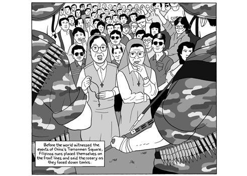 "From Lorina Mapa's graphic novel, ""Duran Duran, Imelda Marcos, and Me."""