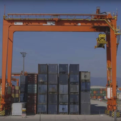 Container in a port