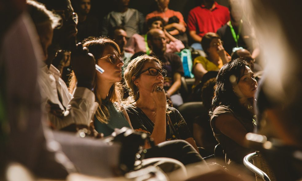 Audience in the theatre at Goethe-Institut Salvador