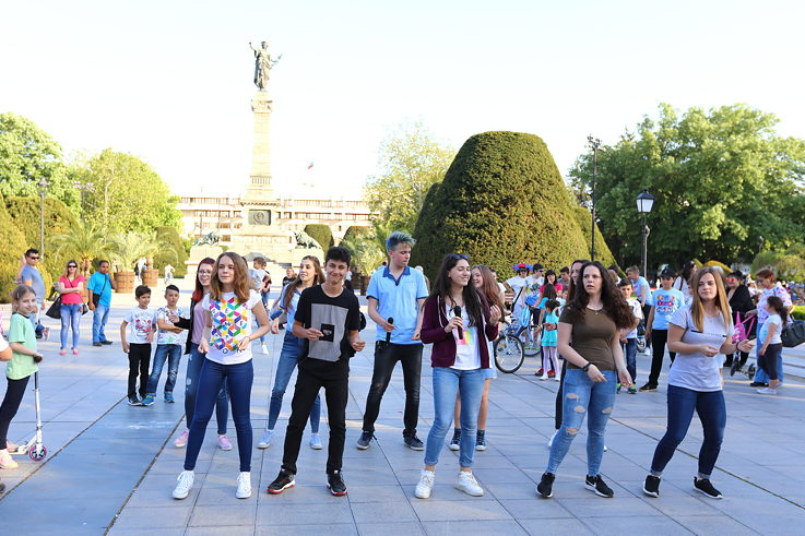 Flashmob in Russe
