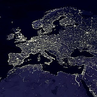 Europa bei Nacht | © NASA visible Earth/ public domain