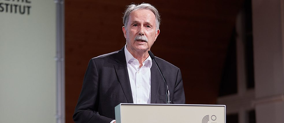 President of the Goethe-Institut Prof. Dr. h.c. Klaus-Dieter Lehmann at the opening speech