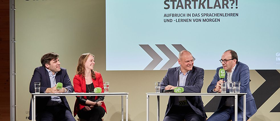 Panel discussion with Cathleen Berger (Mozilla Foundation), Johannes Ebert (Secretary-General of the Goethe-Institut), Prof. Dr. Torben Schmidt (Leuphana University Lüneburg)