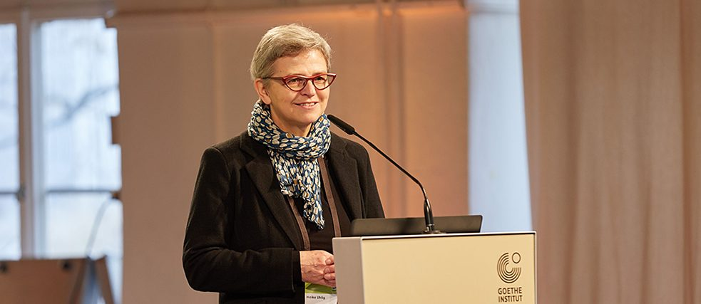 Dr. Heike Uhlig, head of the language department at the Goethe-Institut head office in Munich, welcomed participants to the conference.