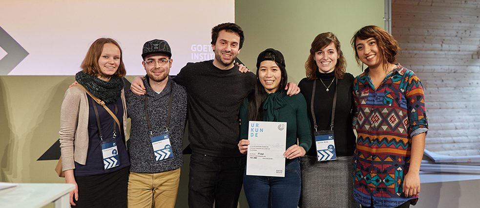 Hackathon team award presentation