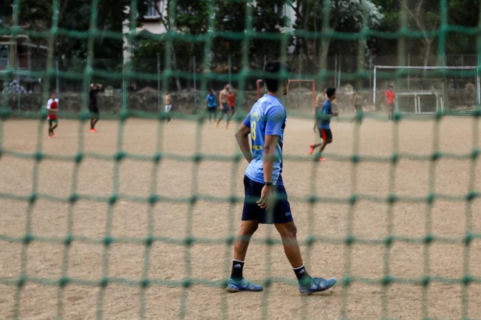 Football in St. Andrews Turf in Bandra