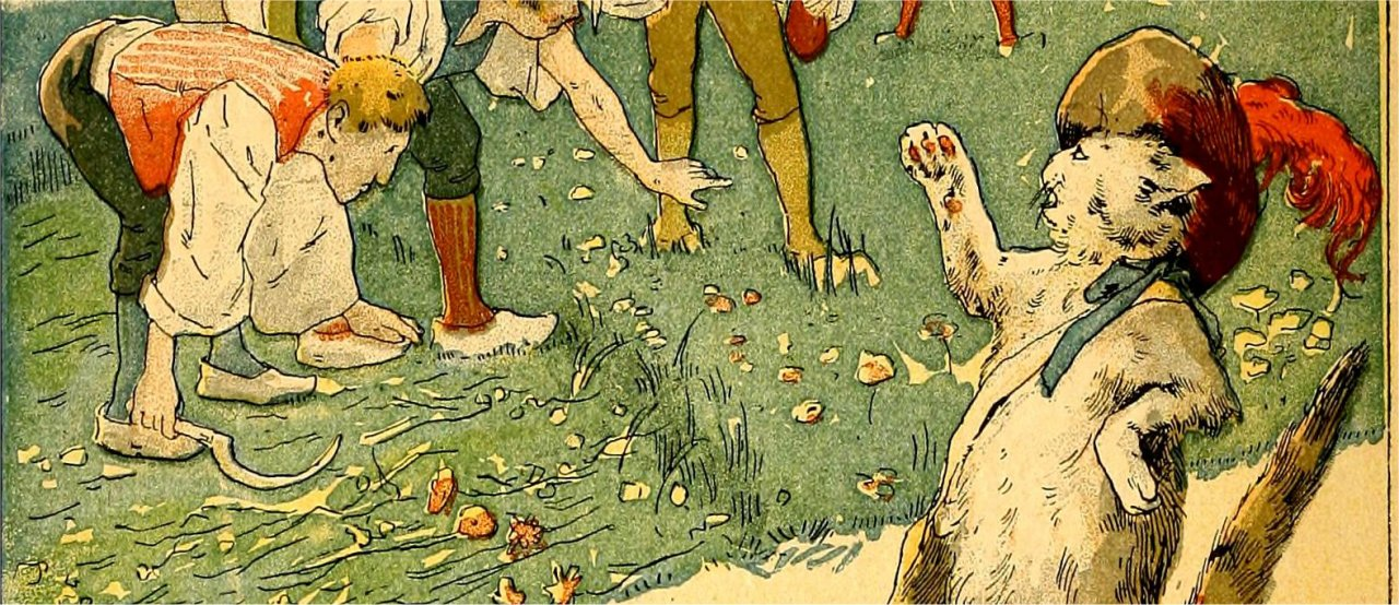 "An illustration from the book ""Puss in Boots"" by Charles Perrault, published in 1900"