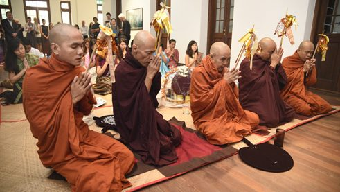 Monks' dedication ceremony
