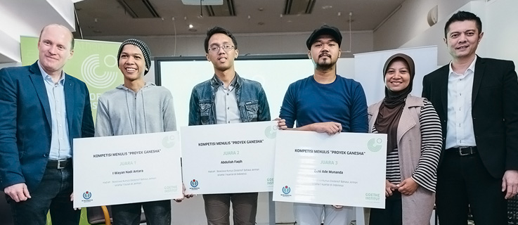 Winner of writing competition on wikipedia Indonesia