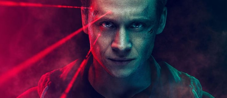 "Detail Matthias Schweighöfer as Lukas Franke in ""You Are Wanted"" , Amazon Prime Promo Poster 2. Season"