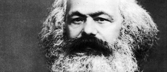 A portrait of Karl Marx