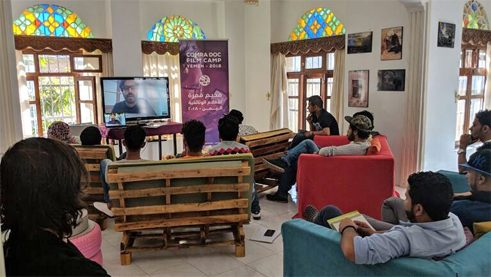 A camp for filmmakers in Yemen