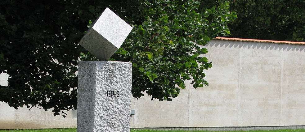 This Cube sugar monument stands in the Czech town of Dačice.
