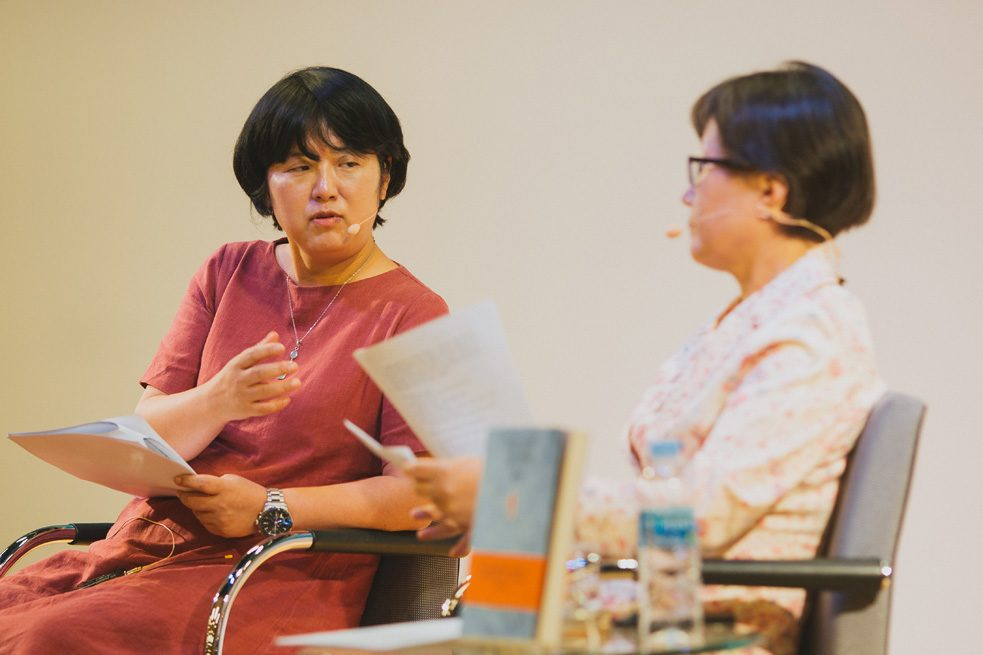 Their conversation afterwards was moderated by Prof. Yun-Yeong Choi of Seoul National University.