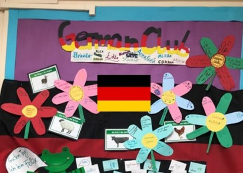 """Deutsch-AG mit Felix und Franzi"" at Kyson Primary School in Woodbridge, Suffolk"