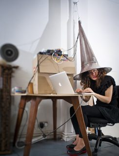 Aura Satz, Spiral Sound Coil – in the studio, 2010