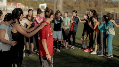 Team-building games and training exercises make football more fun