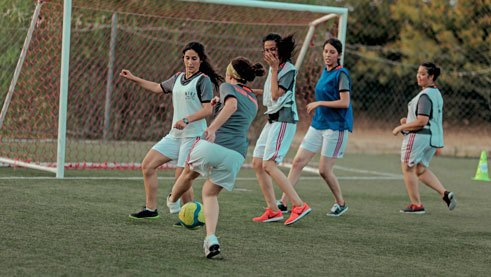 The young women demonstrate their skills in the final tournament