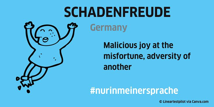 Unique word: Schadenfreude