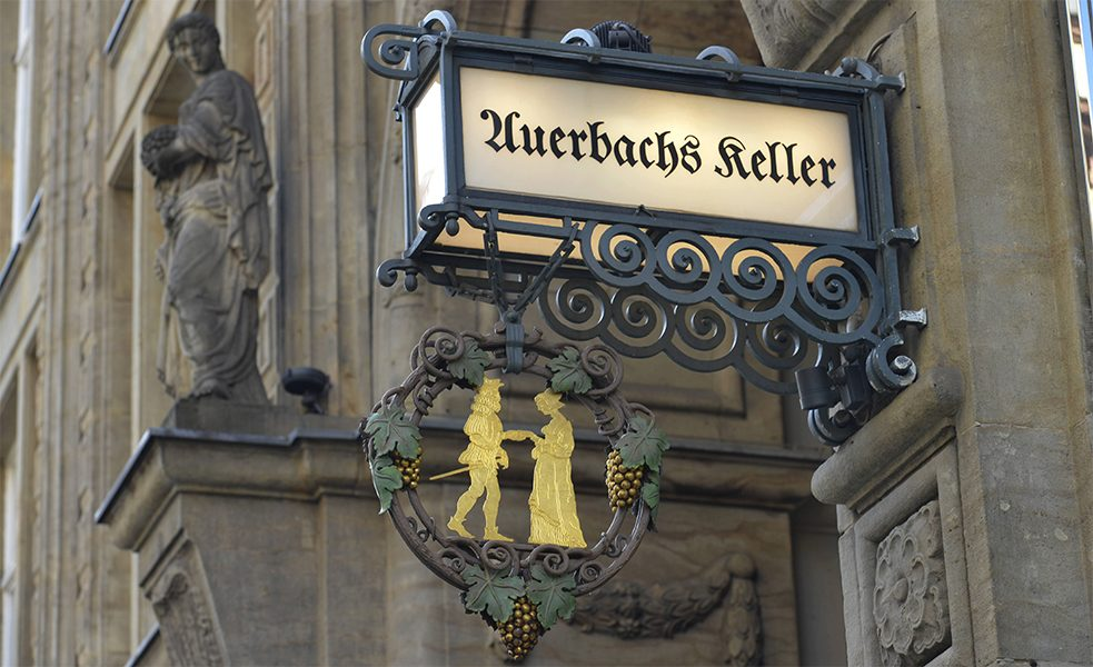 "A popular student pub back in Goethe's student days, Auerbachs Keller is still a beloved wine bar in Leipzig today. It was mentioned in the play ""Faust I"", earning it a worldwide reputation."