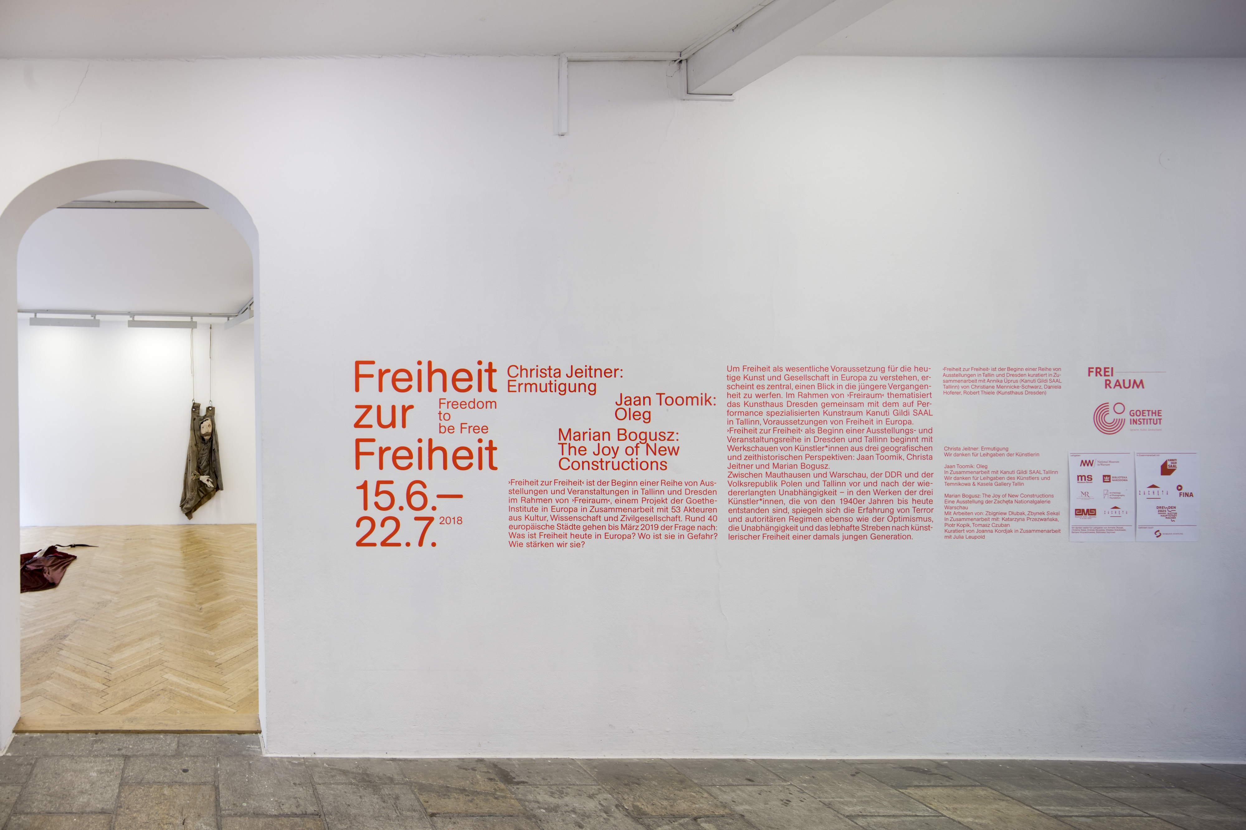 View of the exhibition: Encouragements, Kunsthaus Dresden