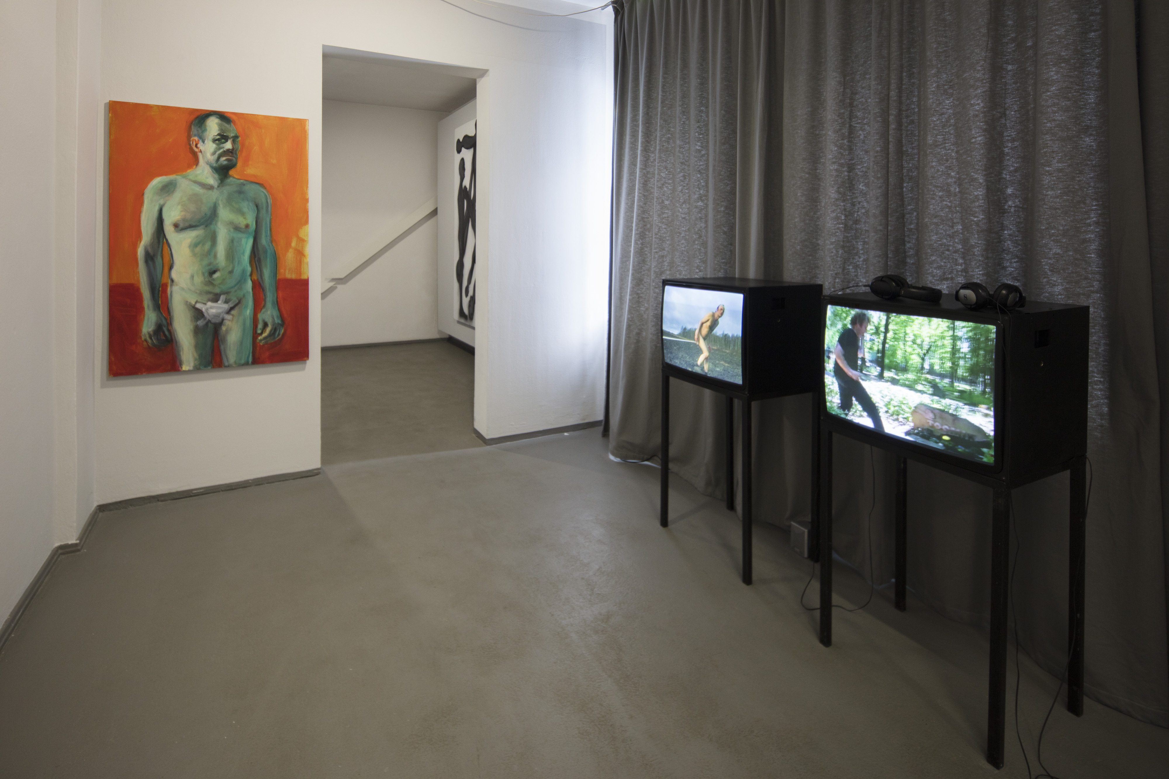 View of the exhibition Jaan Toomik: Selfportrait with cut-off penis (Homage to Van Gogh), 2015, Kunsthaus Dresden