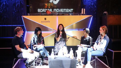 Panel discussion at the Pop-Kultur festival