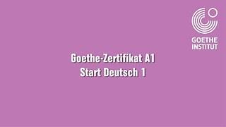 Brief goethe institut schreiben a1 Goethe's A1