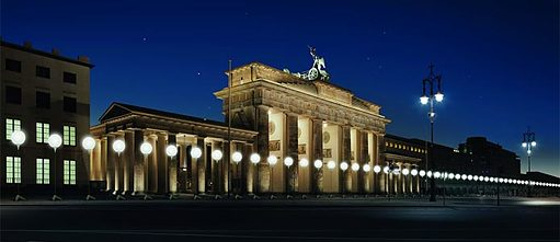 Lichtgrenze Brandenburg Gate visualization