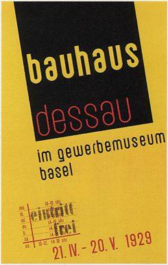 Αφίσα του Bauhaus από το 1929.