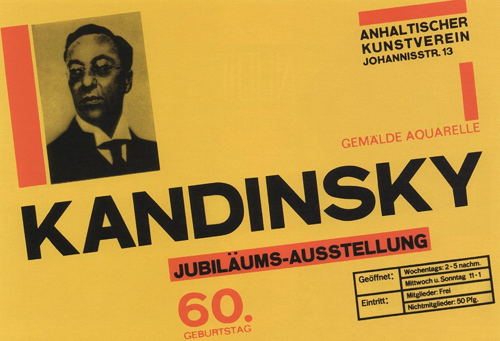Poster mock-up by Herbert Bayer in 1926