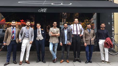 "The gentlemen visit the high-end fashion label ""Herr von Eden"""