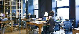 The office is a thing of the past: Co-working spaces and startup hubs are increasingly popular.